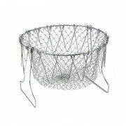 Coş pentru Prăjit Alimente 2 în 1 Hot Basket, 23 cm, Pliabil, Oţel inoxidabil