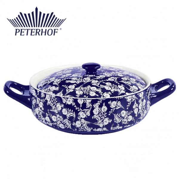 Cratiţă Ceramică rotundă cu Capac Peterhof, 2.5 Litri, 2 Piese