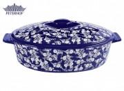 Cratiţă Ceramică rotundă cu Capac Royal Blue Peterhof, 3.6 Litri, 2 Piese