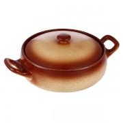 Cratiţă Ceramică rotundă cu Capac Vabene, 2.5 Litri, 2 Piese