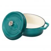 Cratiță Ovală Fontă Emailată 5.9 Litri Cooking by Heinner, Taste of Home by Chef Sorin Bontea, 33x26.5x11.5 cm, Albastru