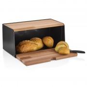 Cutie pentru Pâine bienWood, 38.8 x 16.8 x 18 cm, Lemn și Plastic