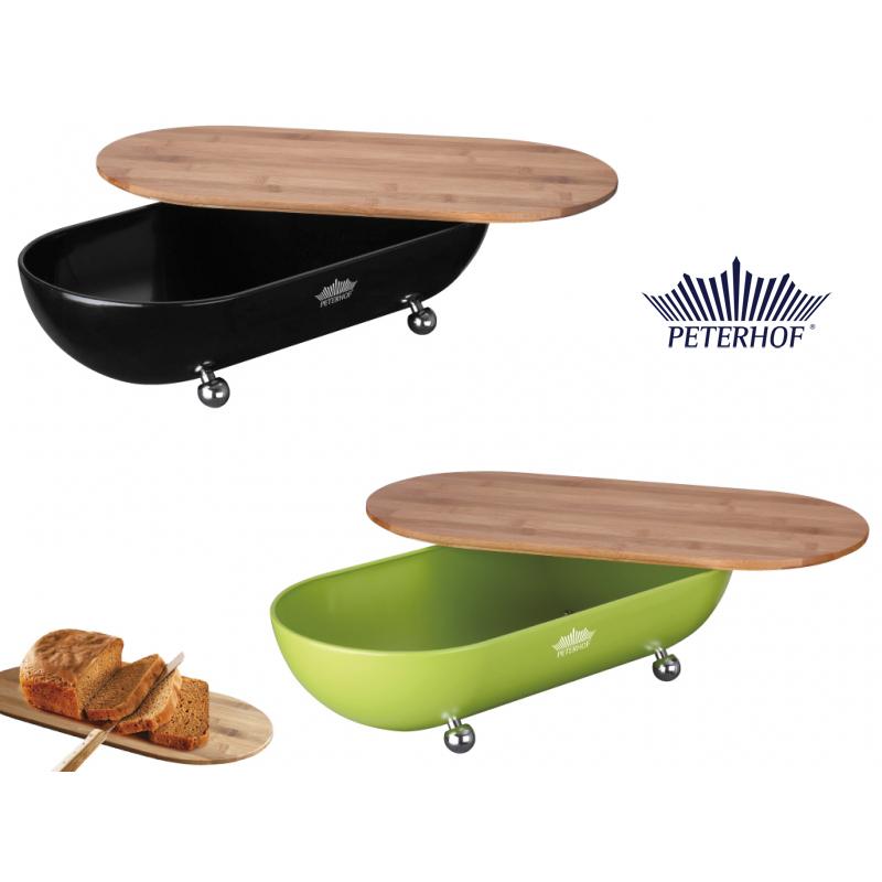 Cutie pentru Pâine cu Tocător din Bambus Alba Peterhof, Tocător Detaşabil, Eco, Diverse Culori