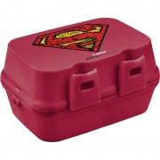 Cutie pentru Sandwich Superman Tuffex, 14 x 15 x 9.30 cm, Plastic, Roșu