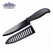 Cuţitul Bucătarului din Ceramică Neagră Peterhof, 28 cm, Mâner Silicon