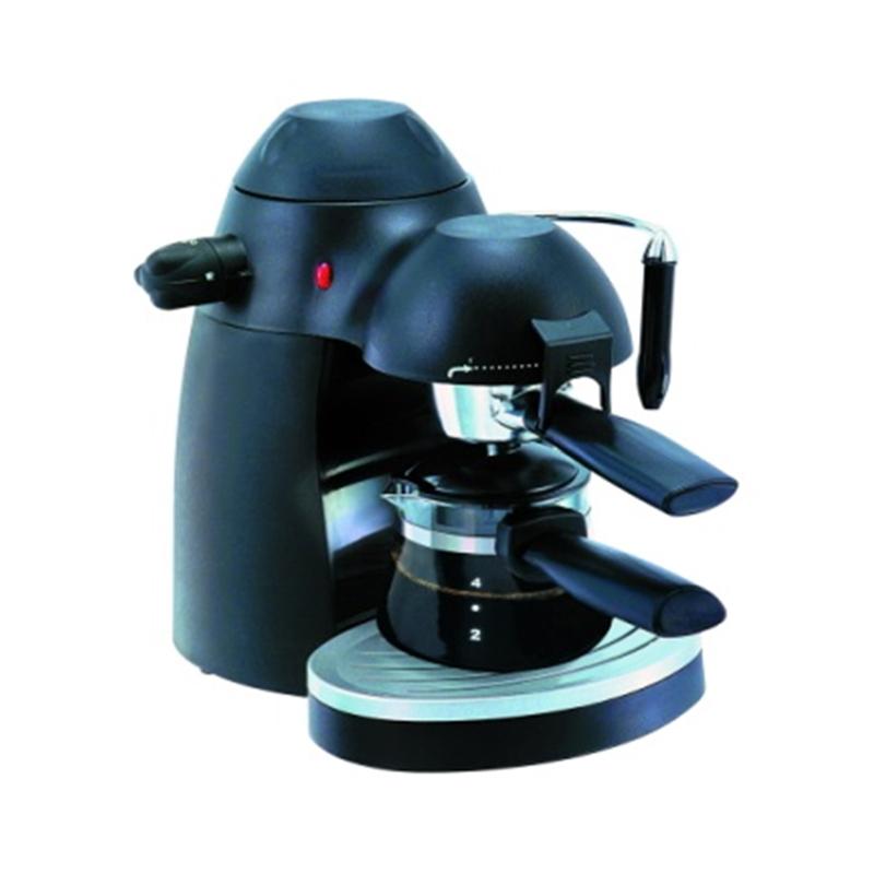 Espressor Cafea Manual Clasic Hausberg, 3.5 Bar, 650 W, 4 Cești, Sistem Spumare, Cappuccino, Negru
