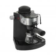 Espressor Cafea Manual Mega Hausberg, 3.5 Bar, 650 W, 4 Cești, Sistem Spumare, Capuccino, Negru