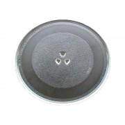 Farfurie pentru Cuptor cu Microunde Grunberg, Diametru 24.5 cm, Platan Universal, Sticlă