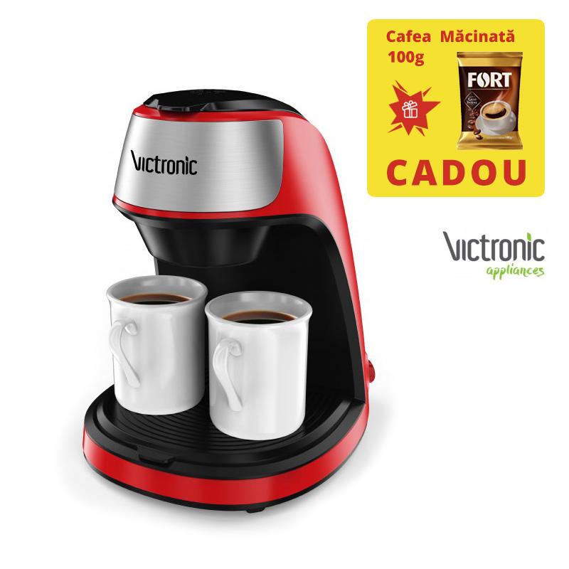 Filtru de Cafea Electric Victronic, 2 Căni, 250 ml, 450 W, Cafea măcinată, Diverse Culori