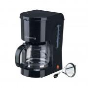 Filtru de Cafea Electric Hausberg, 12 ceşti, 1.2 Litri, 1200 W, Filtru detaşabil, Plită încălzită, Negru