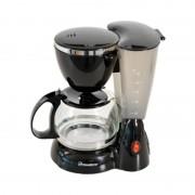 Filtru de Cafea Electric Mini Hausberg, 6 ceşti, 0.6 Litri, 800 W, Filtru detaşabil, Negru