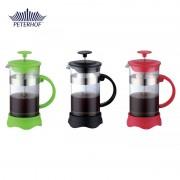 Filtru manual pentru Cafea şi Ceai French Press Calzo Peterhof, 1000 ml, Sticlă, Diverse Culori