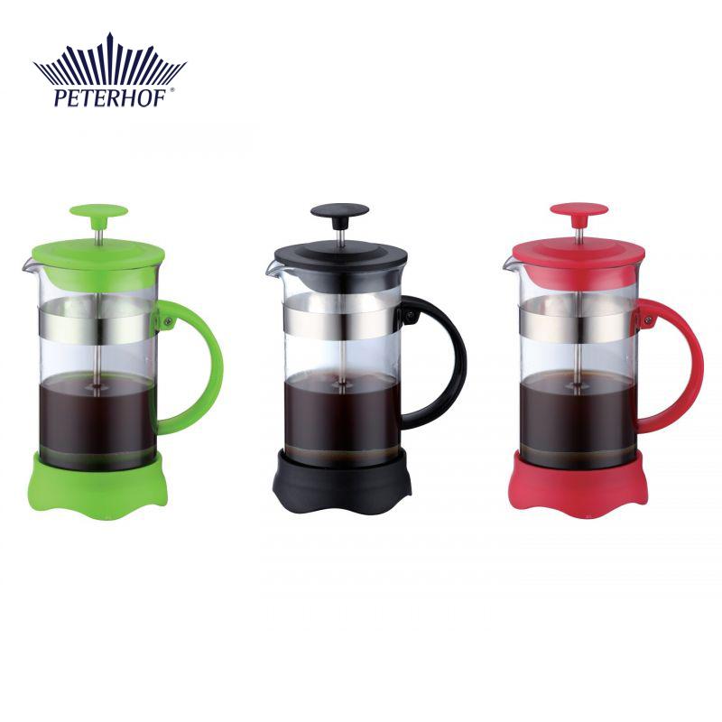 Filtru manual pentru Cafea şi Ceai French Press Peterhof, 350 ml, Sticlă