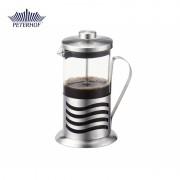 Filtru manual pentru Cafea şi Ceai French Press Peterhof, 350 ml, Sticlă şi Inox