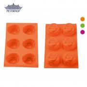 Formă de Brioşe din Silicon Peterhof, 6 forme, Trandafiri, Diverse Culori