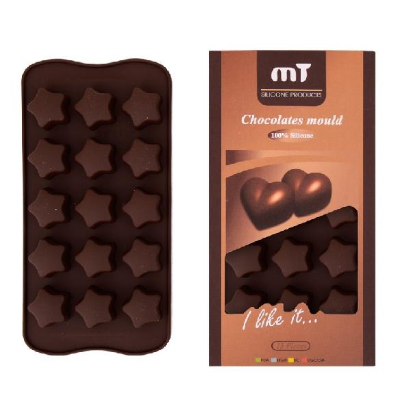 Formă pentru Ciocolată din Silicon DeKassa, 15 forme, Diverse Modele