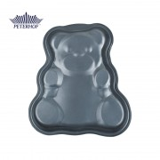 Formă pentru Copt Model Ursuleţ din Oţel Carbon Teddy Peterhof, 33 cm, Tăvă Teflon, Modele Animale