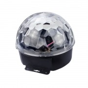 Glob Disco Multicolor cu Jocuri de Lumini LED Crystal Magic Ball, 220 V, Proiector LED-uri Party