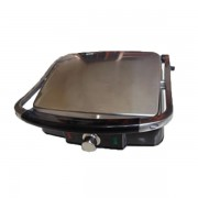 Grill şi Sandwich Maker Electric Double Hausberg Diamonds, 1950 W, Profesional, Înveliş Antiaderent, Inox