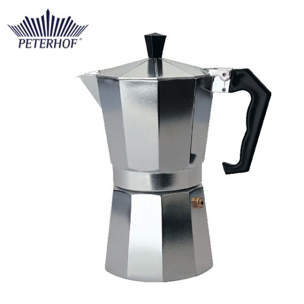 Infuzor manual pentru Cafea şi Ceai Peterhof, 3 ceşti, Aluminiu, Filtru