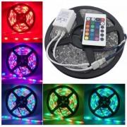 Kit Bandă LED RGB cu Telecomandă DeLight Electric, 5 metri, 60 LED/metru, 10W/metru, 12V, IP65