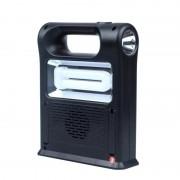 Kit Panou Solar cu 2 Becuri LED CCLAMP, Becuri LED SMD, Radio FM, Player USB, Card, Acumulator