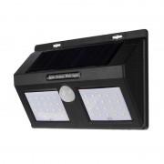 Lampă Solară Dublă de Perete cu Senzor Solar Wall Light, 40 LED-uri, Senzor PIR, Senzor CDS, Negru