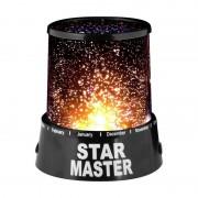 Lampă de Veghe cu Proiector de Stele Star Master, 2 Moduri, 4 LED-uri, Alimentare USB / Baterii, Negru