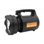 Lanternă LED cu Acumulator TD-6000A, LED T6 30 W, 1200 mAh, 3 Moduri, Lampă de Mână / Camping, Reîncărcabilă