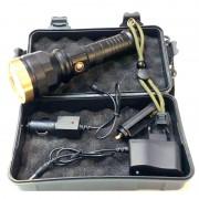 Lanternă cu LED MLN-9061, Rezistentă la Apă, Aluminiu, Cutie depozitare, Încărcător, Negru