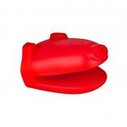 Mănușă Bucătărie din Silicon Vanora, Model Purceluș, 11 x 10.5 x 8.5 cm, Cuptor, Roșu