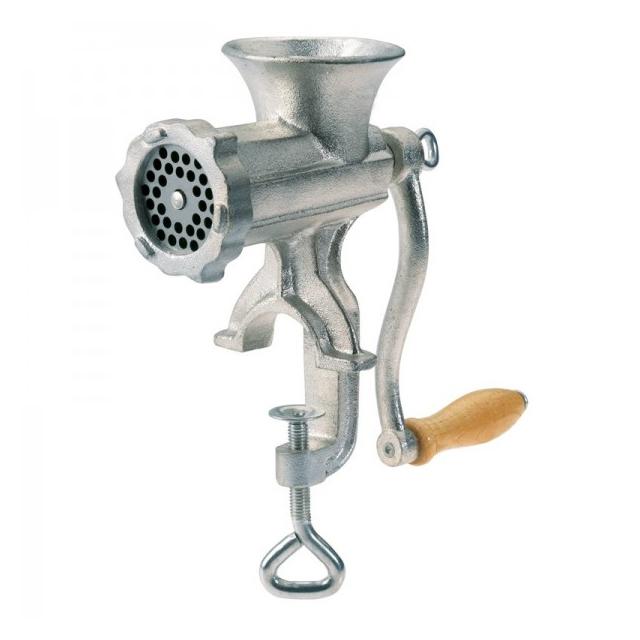 Maşină manuală pentru Tocat Carne Grunberg, Nr. 5, 3 Accesorii Cârnaţi, Fontă