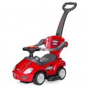 Mașinuță 3 în 1 pentru Copii Jolly Kids, Spătar și Mâner, Sunete, Plastic, Diverse Culori