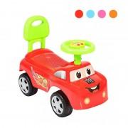 Mașinuță fără Pedale pentru Copii MicMax, Spătar și Volan, Sunete, Plastic, Diverse Culori