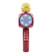 Microfon cu Boxă Hi-Fi LED Karaoke cu Bluetooth, 3 W, Radio, Funcţie Ecou / Reverb, Baterie Reîncărcabilă, Diverse Culori
