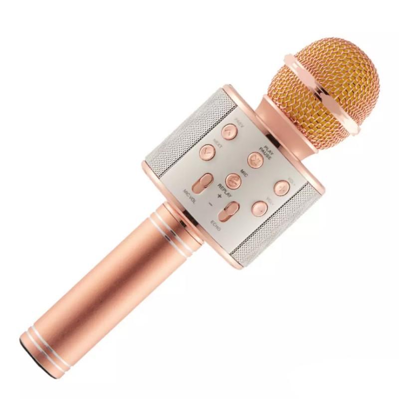 Microfon cu Boxă HiFi Karaoke Speaker cu Bluetooth, 5 W, Radio, Funcţie Ecou / Reverb, Baterie Reîncărcabilă, Diverse Culori
