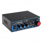Mini Amplificator Audio cu Bluetooth și Telecomandă BT-638 OEM, 2 x 100 W, USB, MicroSD, Radio, Display