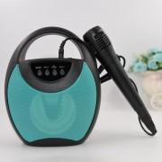 Mini Boxă Portabilă Karaoke cu Microfon Fojax, 8 W, LED Disco, Bluetooth, Acumulator