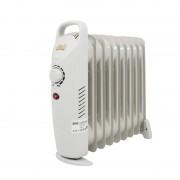 Mini Calorifer Electric pe Ulei cu 9 Elemenți Victronic, 1000 W, Termostat, Alb