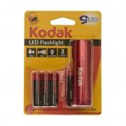 Mini Lanternă cu LED Kodak, 9 LED-uri, 46 Lumeni, 25 metri, 3 Baterii AAA, IP62, Diverse Culori