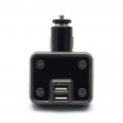 Modulator FM Bluetooth pentru Maşină KCB-910, USB, microSD, Ecran, Handsfree, Negru