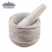 Mojar cu Pistil din Marmură Peterhof, 2 piese, Alb