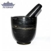 Mojar cu Pistil din Marmură Peterhof, 2 piese, Negru
