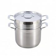 Oală pentru Gătit la Aburi Accord, 7 Litri, 23.5 cm, 3 piese, Inox, Inducţie