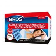 Pastile anti Țânțari Bros, 20 Rezerve pentru Aparat Electric, 10 ore