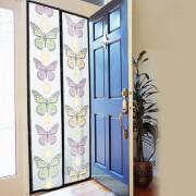 Perdea Magnetică Anti Insecte pentru Uşă Insect Stop, 210 x 100 cm, Model Colorat cu Fluturi