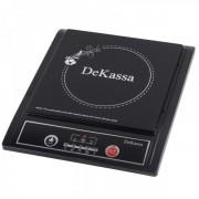 Plită cu Inducţie DeKassa, 1 Arzător, 5 funcţii, 3 trepte, 2000 W, Negru