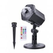 Proiector LED cu Telecomandă pentru Interior sau Exterior, Jocuri de Lumini, 4 Anotimpuri, Efecte