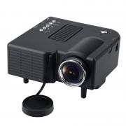Proiector Multimedia LED Projector LIS, Rezoluție 320x240, USB / SD Card, Porturi AV, VGA și HDMI, Negru