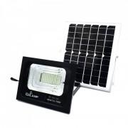 Proiector cu Panou Solar și Telecomandă CCLAMP, 100 W, 88 LED-uri, Temporizator, Aluminiu, IP67, Negru